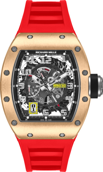 Richard Mille Rm030 Red And Rose Gold Watch