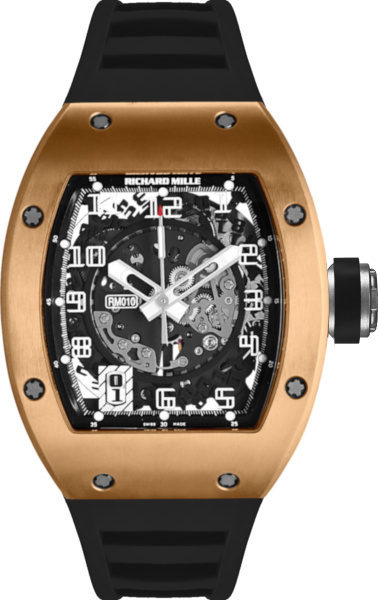Richard Mille Rose Gold And Black Rm 010