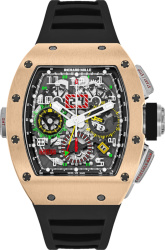 Richard Mille Rose Gold And Black Rm 11 02