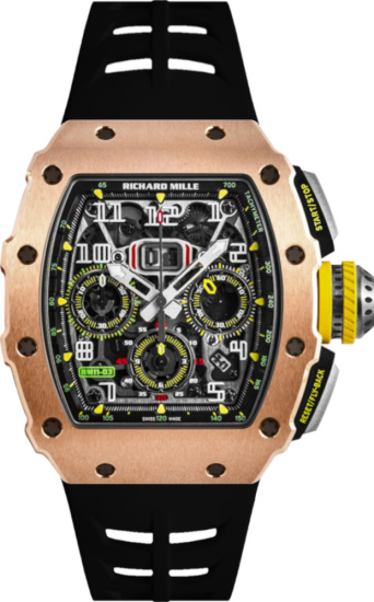 Richard Mille Rose Gold And Black Rm 11 03