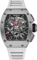 Richard Mille X Felipe Massa Titanium And White Rm 011 Watch