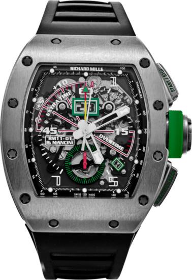 Richard Mille X Roberto Mancici Black And Titanium Rm 11 01 Watch