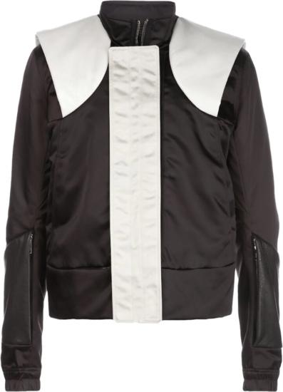 Rick Owens Black And White Paneled Jacket