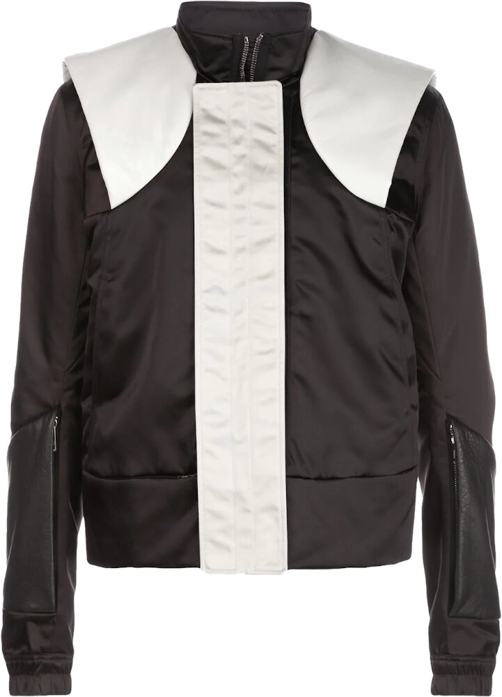 Rick Owens Black And White Paneled Jacket