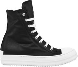 Rick Owens Black High Top Canvas Sneakers