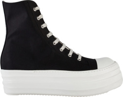 Rick Owens Black High Top Double Bumber Sneakers