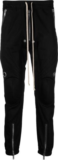 Rick Owens Black Knee Pad Pants