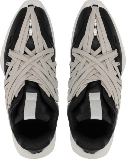 Rick Owens Black Mega Lace Low Top Sneakers