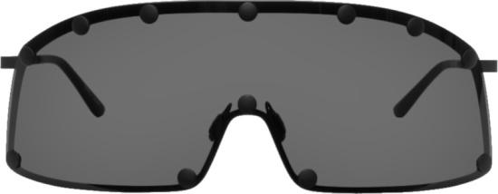 Rick Owens Black Shielding Sunglasses