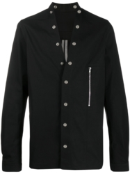 Rick Owens Black Snap Shirt