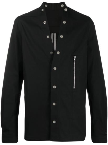 Rick Owens Black Snap Shirt