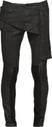 Rick Owens Black Waxed 'memphis' Jeans