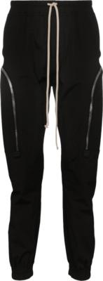 Rick Owens Black Zip Detail Joggers