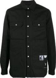 Rick Owens Darkshadow Photograph Patch Black Button Up Shirt Jacket