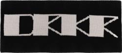 Rick Owens Drkshdw Black Drkr Logo Headband