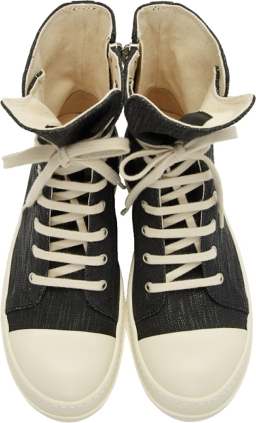 Rick Owens Drkshdw Hi Top Black Sneakers