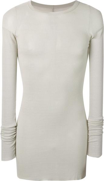 Rick Owens Grey Forever Long Sleeve T Shirt