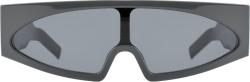Rick Owens Grey Tectual Monolens Sunglasses
