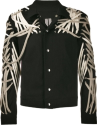 Rick Owens Lace Detail Black Denim Jacket