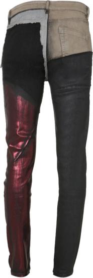 Rick Owens Patchwork Metallic Tyrone Jeans