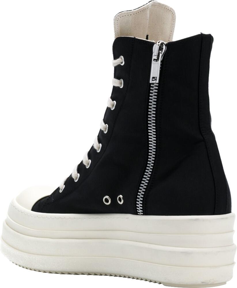 Black High-Top Platform Sneakers