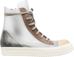 Rick Owens Silver Brown And Biege High Top Chunky Sneakers