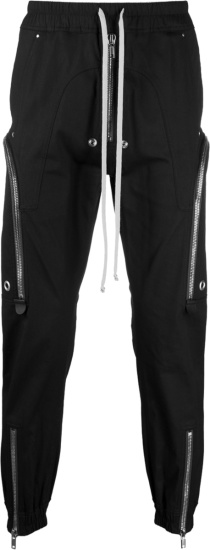 Rickh Owens Black Bauhaus Cargo Pants