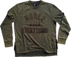 Rocksmith Money Over Everything Green Sweatshirt