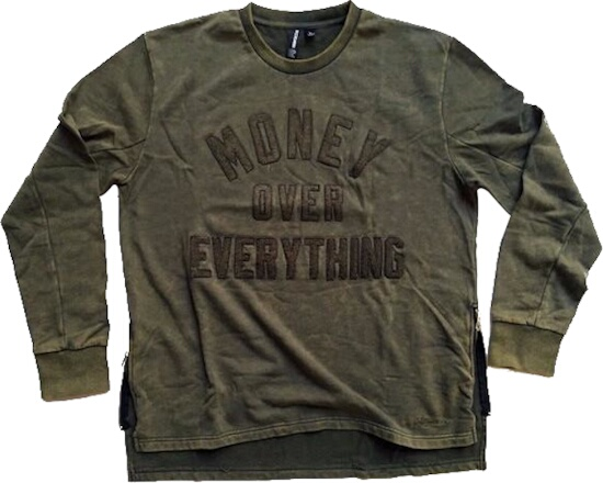 Money Over Everything Green Sweatshirt