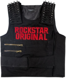 Rockstar Original Studded Black Vest