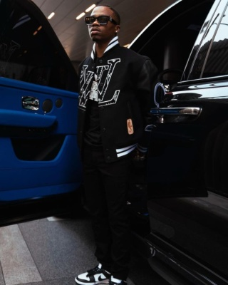 Roddy Rich Wearing Louis Vuitton Black Sunglasses And Lvxnba Bomber With Nike Dunk Sneakers