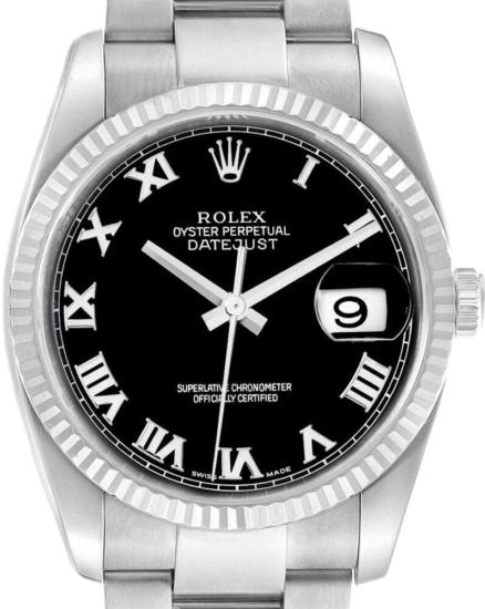 Rolex Datejust White Gold Black Dial