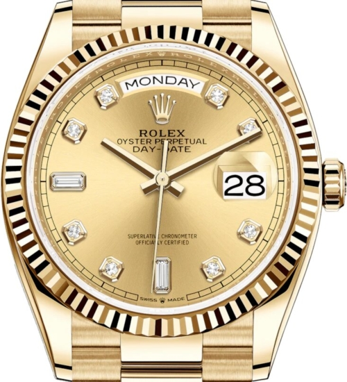 Rolex Day Date Gold With Diamond Dial