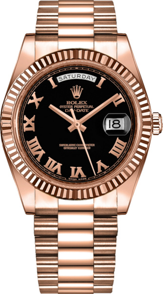 Rolex Day Date Ii Rose Gold And Black 218235