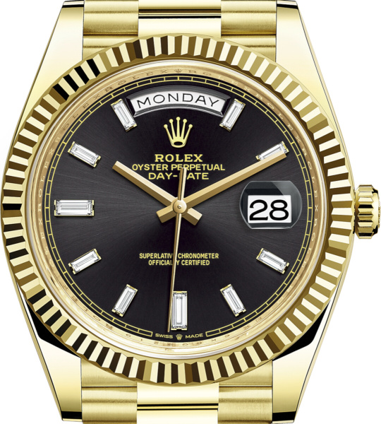 Rolex Gold And Black Day Date
