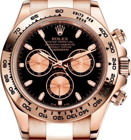Rolex Gold And Black Daytona Watch