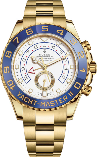 Rolex Gold And Blue Dial Yacht Master Ii M116688 0002