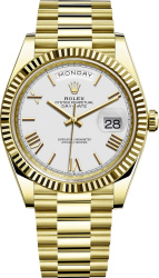 Rolex White And Gold Day Date M228238