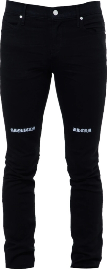 Rta American Dream Print Black Jeans