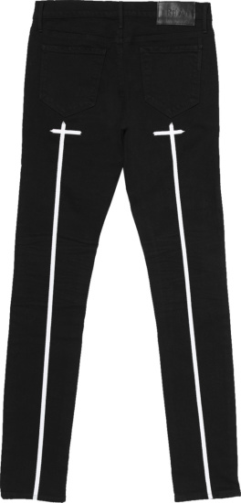 Rta Black Cross Logo Print Skinny Jeans