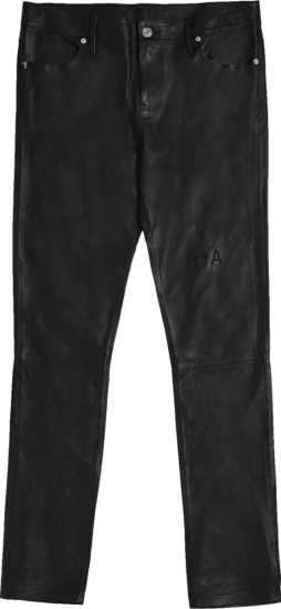 Rta Black Leather Bryant Jeans