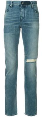 Rta Slashed Knee And Reflective Stripe Jeans