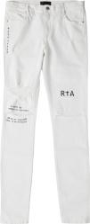 Rta White No Letterman Jeans