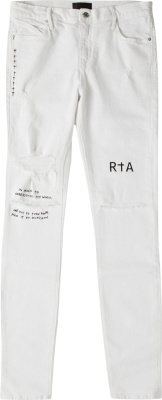 Rta White No Letterman Jeans