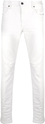 Rta White Skinny Jeans With Black Cross Print