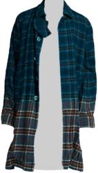 Sacai Extra Long Dip Dyed Flannel Shirt Jacket