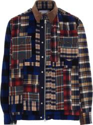 Sacai Patchwork Tartan Shirt Jacket