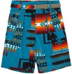 Sacai Tourquoise Aztec Shorts