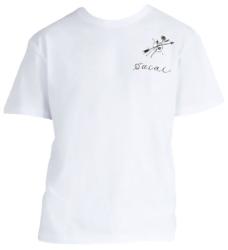 Sacai White Arrow And Print Print T Shrit Worn By Tyga In Goddamn Music Video
