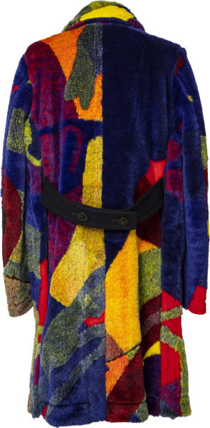 Sacai X Kaws Multicolor Fur Coat